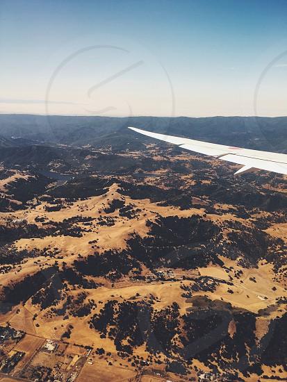 About to landing San Jose California photo
