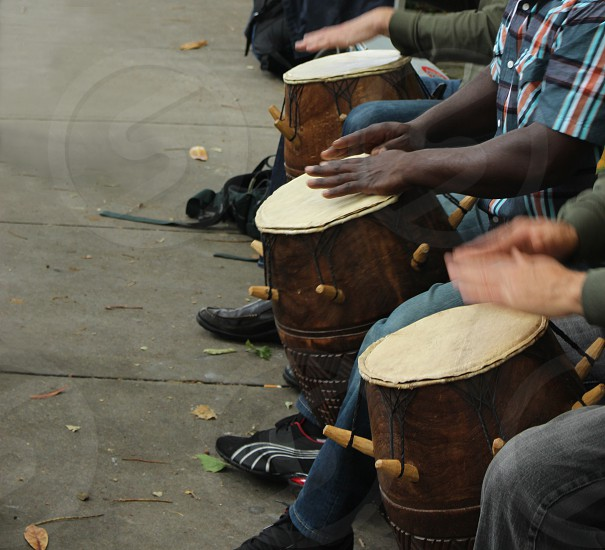 Beat of the drums on the sidewalk photo