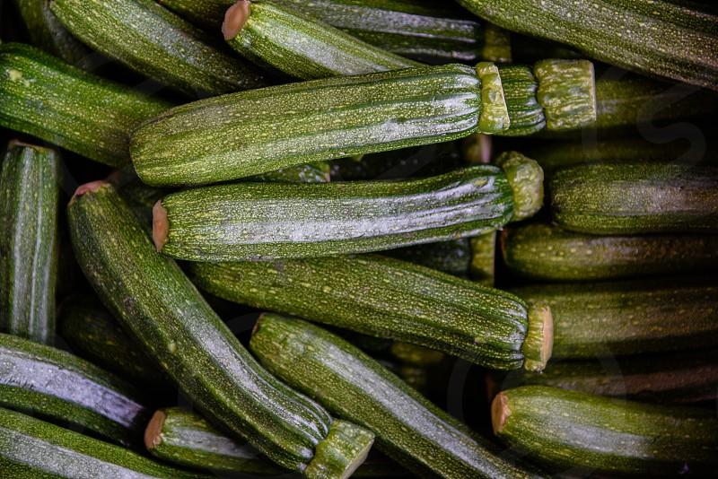 green elongated vegetable photo