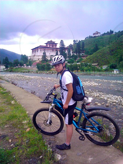 Biking through Paro Dzong(Bhutan) photo