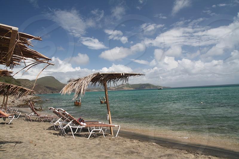 carribean beach ocean tropical island water sea sand photo