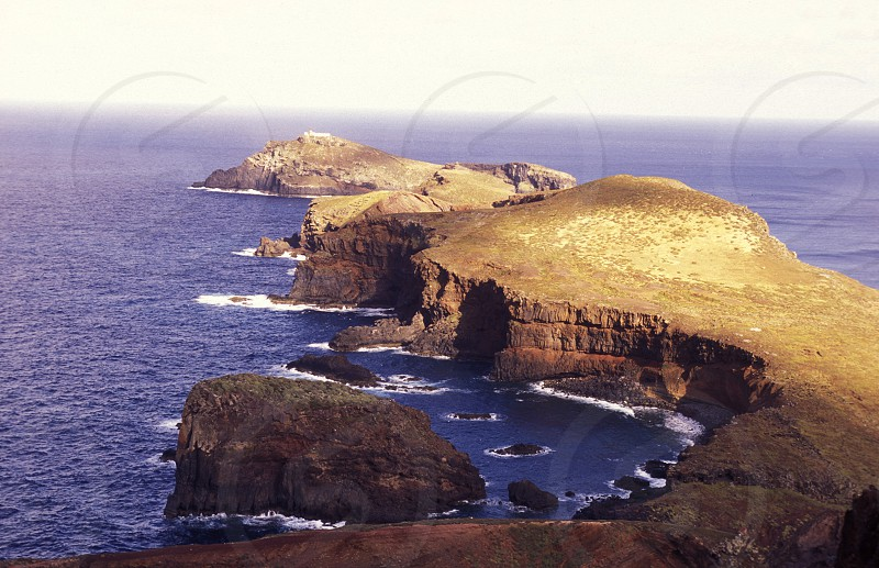 the landscape of Ponta de sao lourenco near the Island of Madeira in the Atlantic Ocean of Portugal. photo