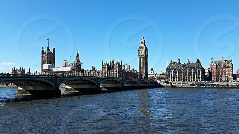 Westminster view from London Southbank photo