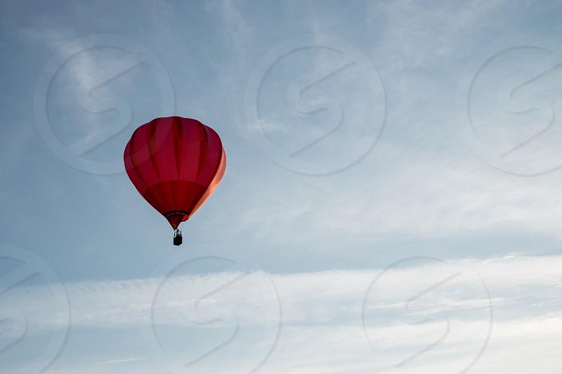 Hot air balloon in the sky photo