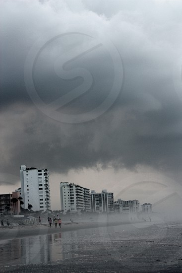 Dreary days at the beach make for a creepy picture! photo