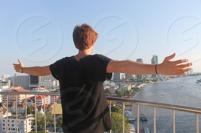 The world in front of him. photo