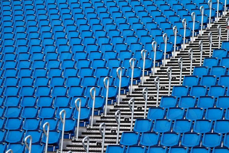 repetition of blue seat - Edimburgh castle photo