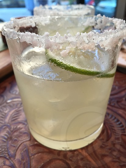 Margarita on the rocks with salt photo