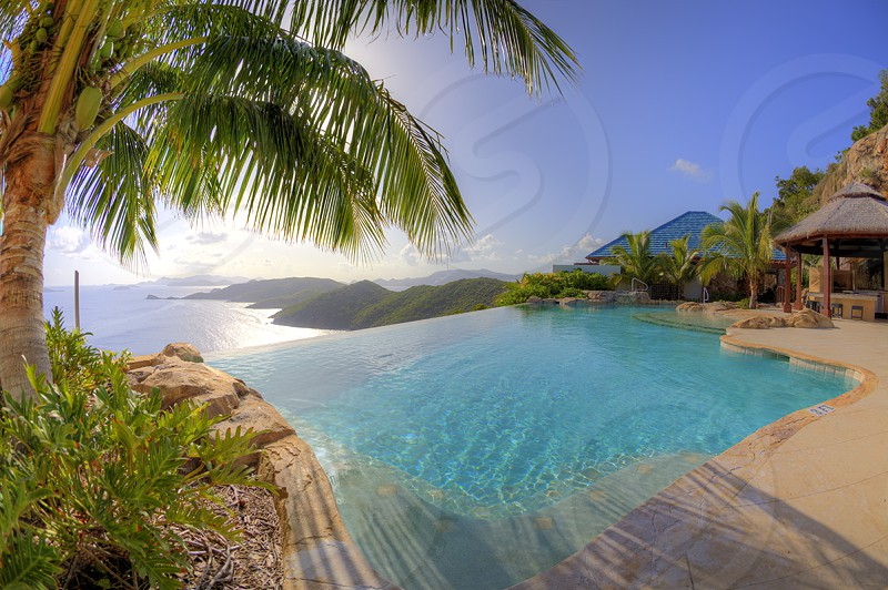 Infinity pool in the British Virgin Islands photo