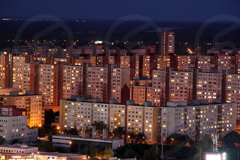 the new city of the city  Bratislava in Slovakia in east europe. photo