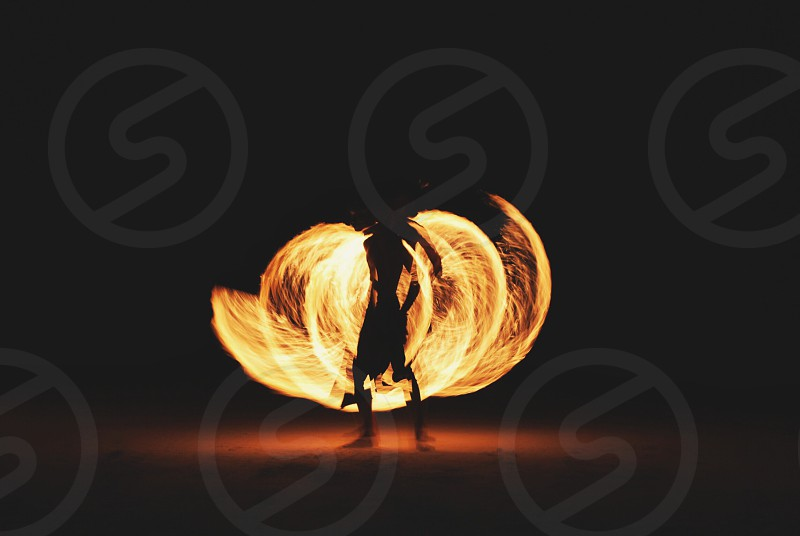 fire dancing view photo