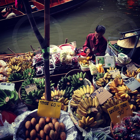 Thailand floating market photo
