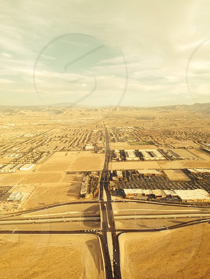 Flying into Las Vegas Nevada photo