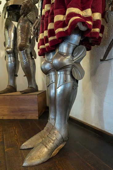 BRAN TRANSYLVANIA/ROMANIA - SEPTEMBER 20 : View of a knight's armour in Dracula's Castle in Bran Transylvania Romania on September 20 2018 photo