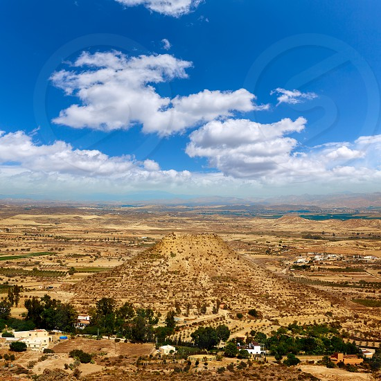 Aerial view from Mojacar Almeria village in Mediterranean Spain photo