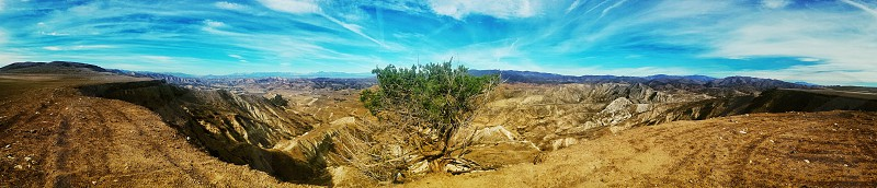 panoramic view of mountain top photo