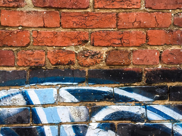 Our patio wall. Urban textures brick wall red brick  photo