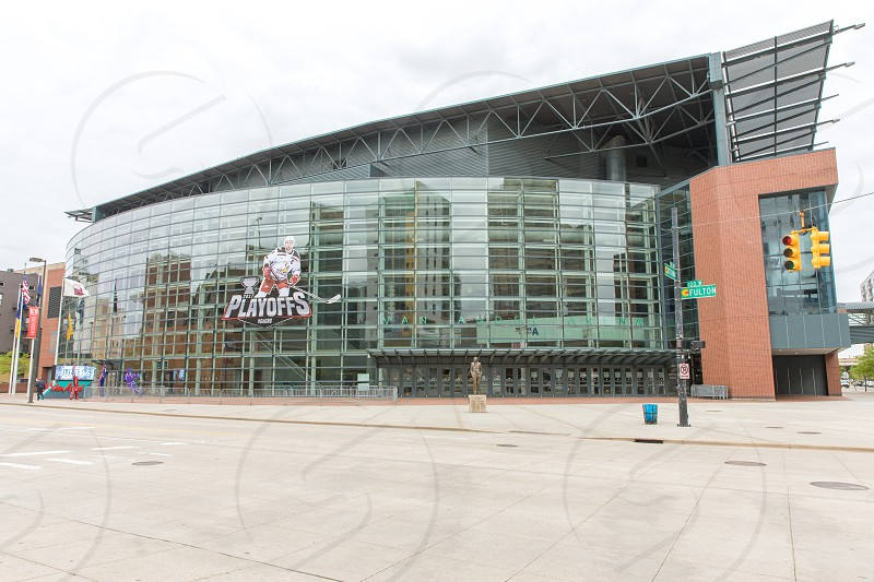 The exterior of the Van Andel Arena in Grand Rapids Michigan photo