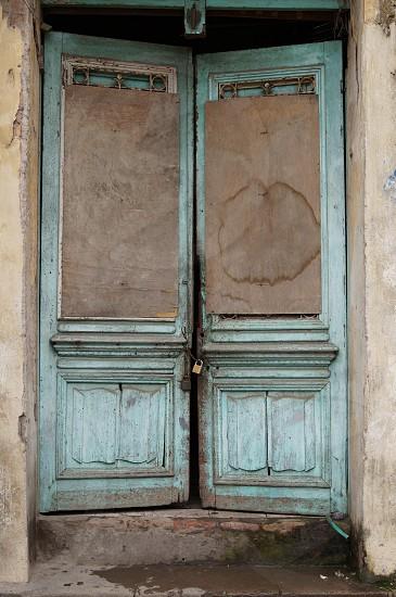 blue doors closed photo