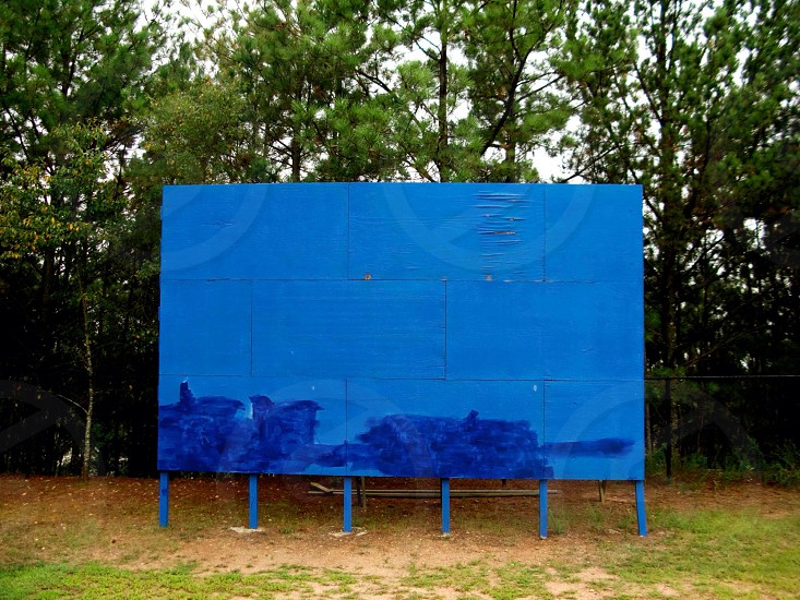 Blue billboard  photo