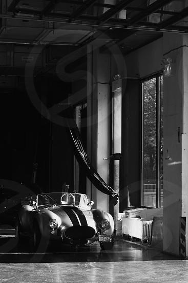 classic ac cobra at the garage photo
