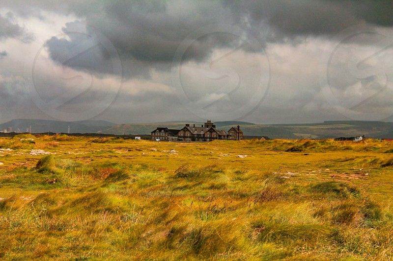 Spooky house nowhere remote Wales hotel abandoned photo