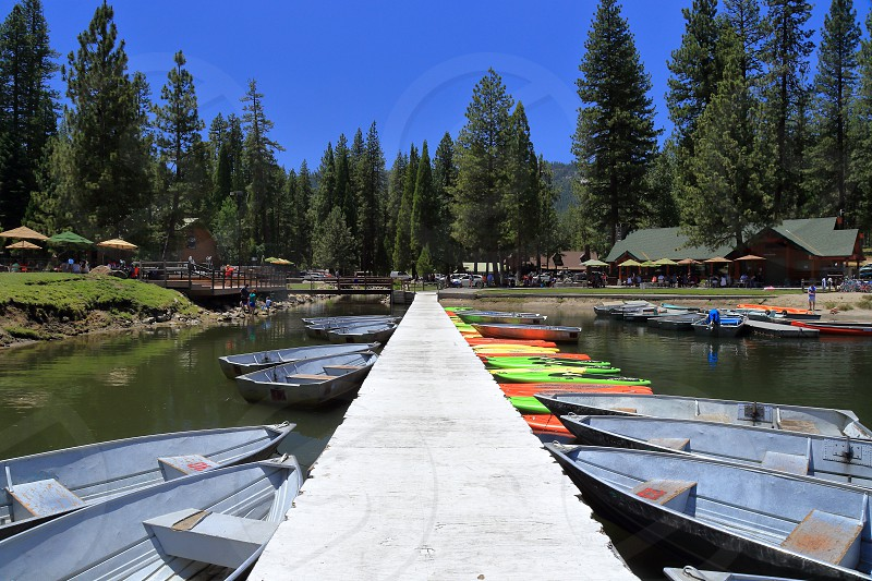 boats on dock photo