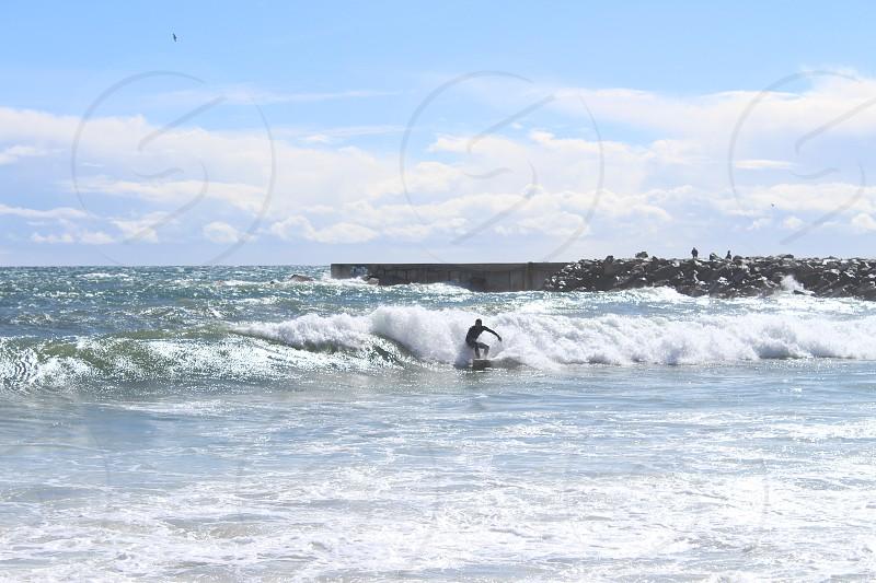 Water sports board surfing fun activity seashore photo