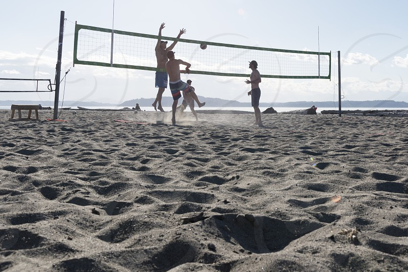 Beach fun in Maui Hawaii photo