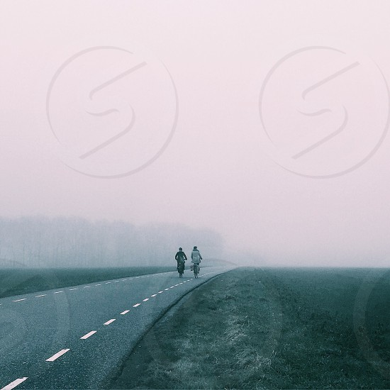 Vanish in fog photo