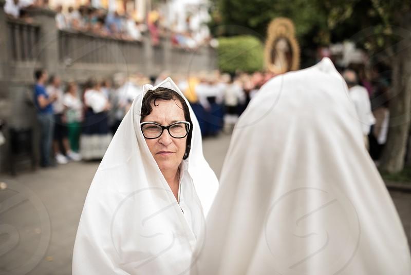 Canarias tradition religion white woman  photo