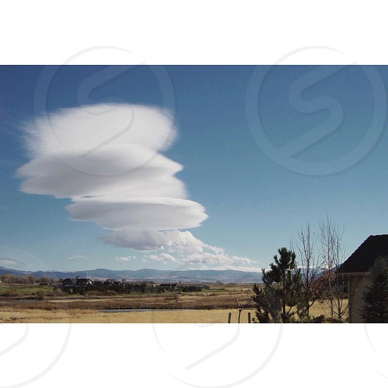 white cloud in sky photo