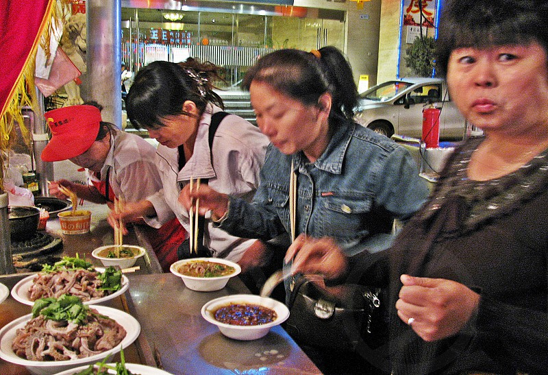 Night market in Beijin  China photo