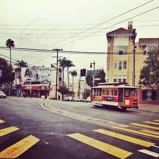 San Francisco trolley street cable car California  photo