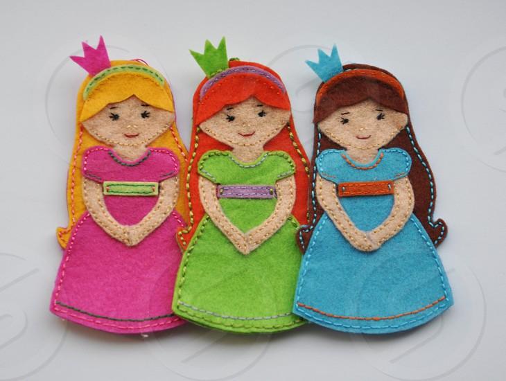 Felt handmade princesses  photo