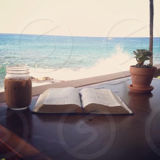 Daylight minds coffee in Kona Hawaii. photo
