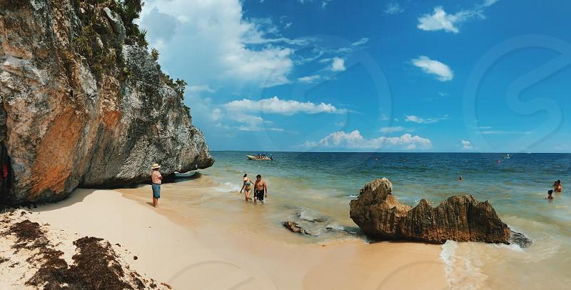 Beach in Cancun mexico photo