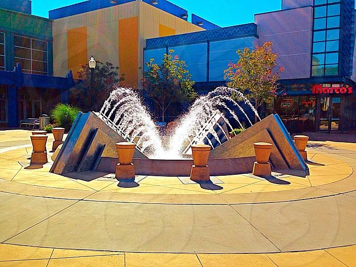 Fall fountain beauty.  photo