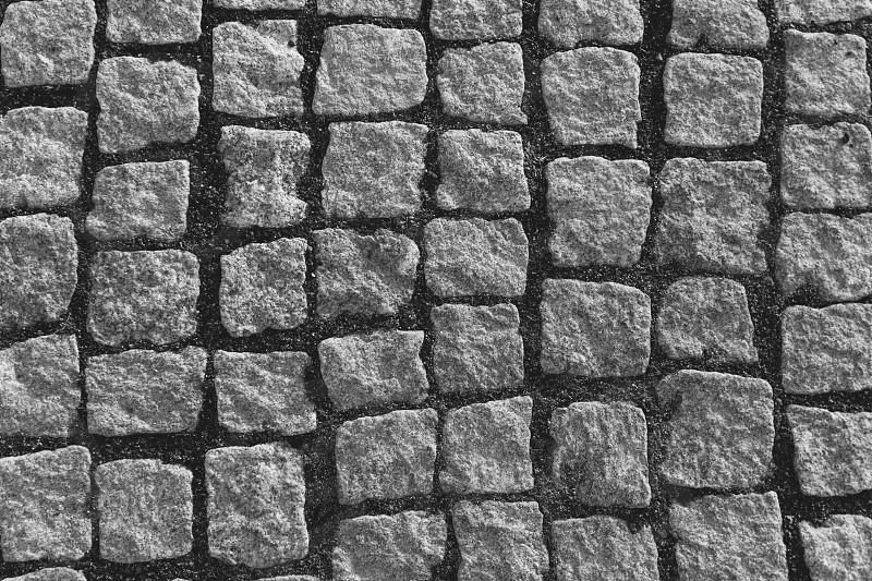 grey stoned street photo