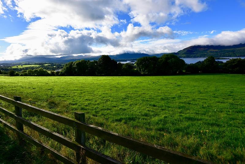 Ireland green landscape photo