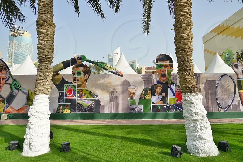 Khalifa International Tennis and Squash Complex is the home of the ATP Qatar Open tournament - Doha Qatar photo