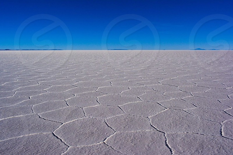 Salt flats for dayyys. Salar de Uyuni Bolivia. photo