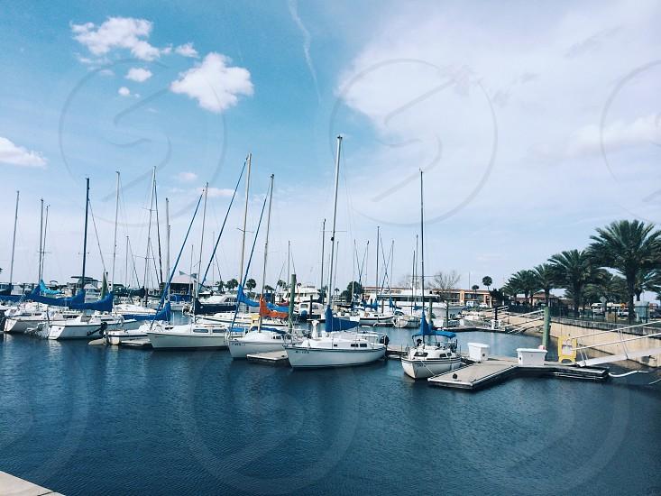 white sailboats photo
