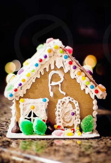 MASTERPIECE MONDAY | The kiddo's gingerbread house they created.  Not perfect but still beautiful! photo