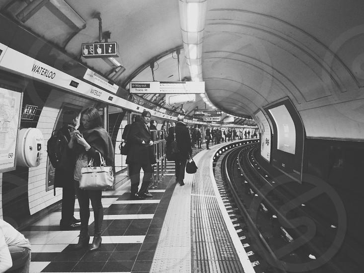 London Underground Waterloo station. photo