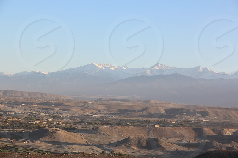 Tora Bora Mountains Afghanistan. Taken from a helicopter. photo