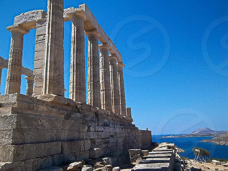 Sounion Greece Poseidon Temple photo