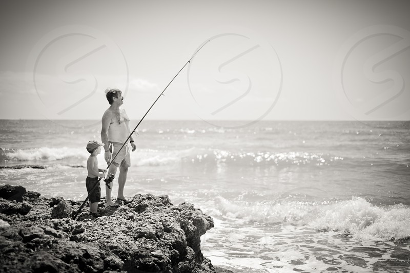 beach fish fishing fishers sea  photo