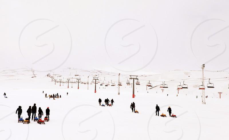 sky run Kayseri Turkey photo