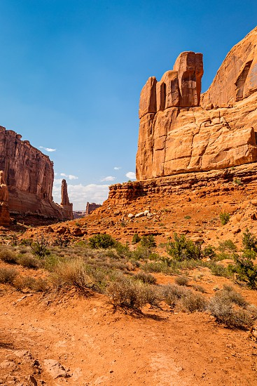 Park Avenue trail  in Arches National Park Moab Utah photo